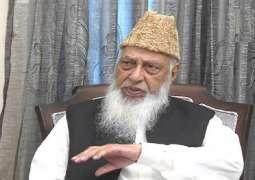 وفاة القیادي البارز في الجماعة الاسلامیة الباکستانیة نعمت اللہ خان عن عمر 90 عاما