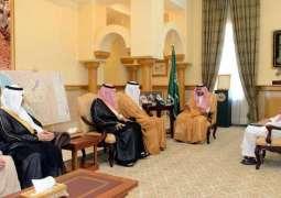 سمو أمير منطقة مكة المكرمة ونائبه يستقبلان محافظي المنطقة المُكّلفين