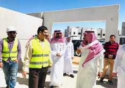 مدير فرع وزارة الإسكان بالمدينة المنورة يتفقد مشروع الوزارة بينبع النخل