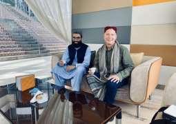 Haqqani leader welcomes Australian Professor at Doha Airport