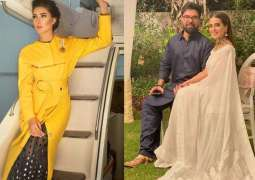 Mehwish Hayat showers love on Iqra Aziz, Yasir Hussain