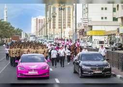 """""""القافلة الوردية"""" تشهد مشاركة أكثر من 400 شخص من المؤسسات الرسمية والمدنية"""