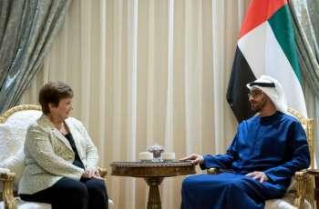 Mohamed bin Zayed receives IMF Managing Director
