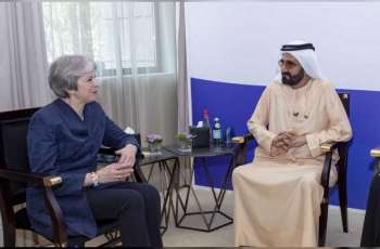 Mohammed bin Rashid receives former British Prime Minister