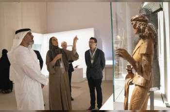Khalid bin Mohamed visits 'Furusiyya Exhibition' at Louvre Abu Dhabi