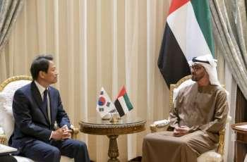 محمد بن زايد يستقبل مبعوث الرئيس الكوري الجنوبي