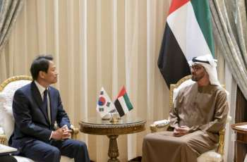 Mohammed bin Zayed receives South Korean President' envoy