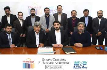 Muller & Phipps Pakistan signs E-Business Agreement with iShopping.pk