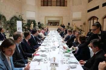مؤسسة ( Korber  ) الألمانية تقيم غداء عمل لسمو وزير الخارجية