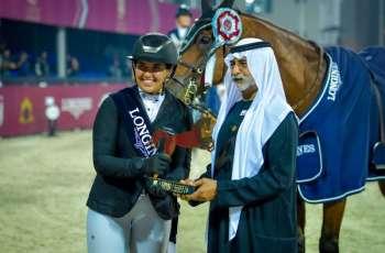 Nahyan bin Mubarak crowns winners of 7th International Show Jumping Cup