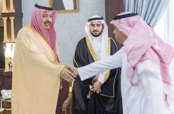 سمو أمير منطقة الباحة يستقبل مدير البريد السعودي بالمنطقة المعين حديثاً