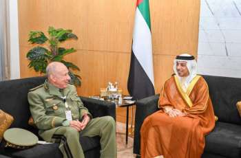 Mansour bin Zayed meets Chief of Staff of Algerian Army