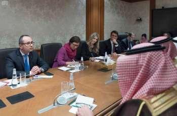 وزير الدولة للشؤون الخارجية يستقبل وفدا من البرلمان الأوروبي
