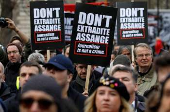 Assange Supporters Gather Outside London Court As US Extradition Trial Gets Underway