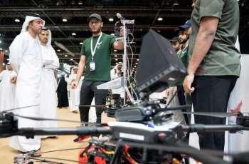 Hazza bin Zayed visits UMEX, SimTEX