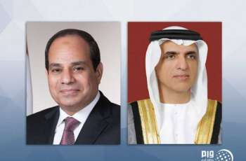 حاكم رأس الخيمة يعزي الرئيس المصري في وفاة محمد حسني مبارك