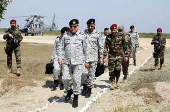 Chief Of The Naval Staff Visits Forward Posts In Creeks Area And Reviews Operational Readiness
