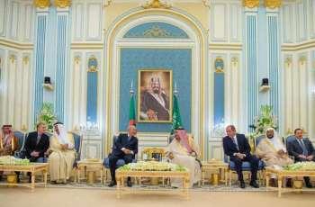 خادم الحرمين الشريفين يستقبل رئيس الجمهورية الجزائرية الديمقراطية الشعبية
