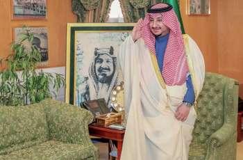 سمو أمير الجوف بالنيابة يستقبل مدير شرطة المنطقة