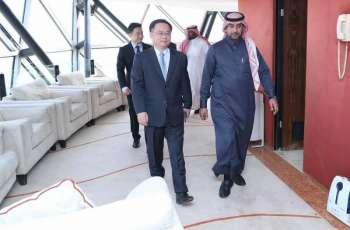 رئيس اللجنة التنفيذية لتسيير أعمال هيئة الإذاعة والتلفزيون يستقبل سفير الصين لدى المملكة