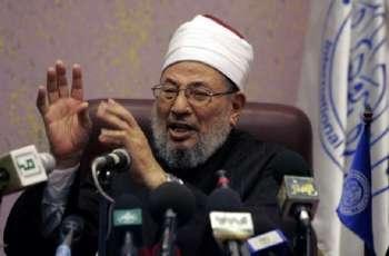 مکتب رئیس الاتحاد العالمي لعلماء المسلمین السابق یوسف القرضاوي ینفي نبأ وفاتہ
