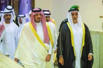 سمو وزير الداخلية بدولة الإمارات العربية المتحدة يصل الرياض