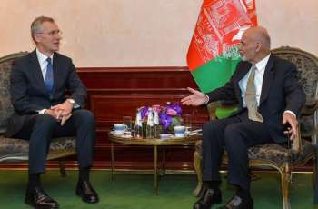 NATO Secretary General in Afghanistan Ahead of Meeting With Ghani