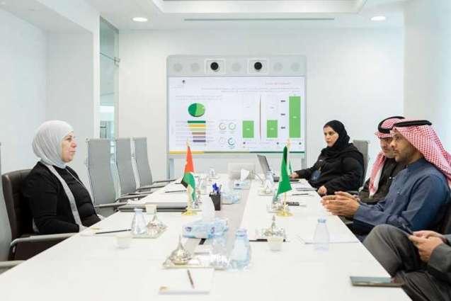 الغانمي يعقد اجتماعًا مع وزيرة التنمية الاجتماعية في الأردن
