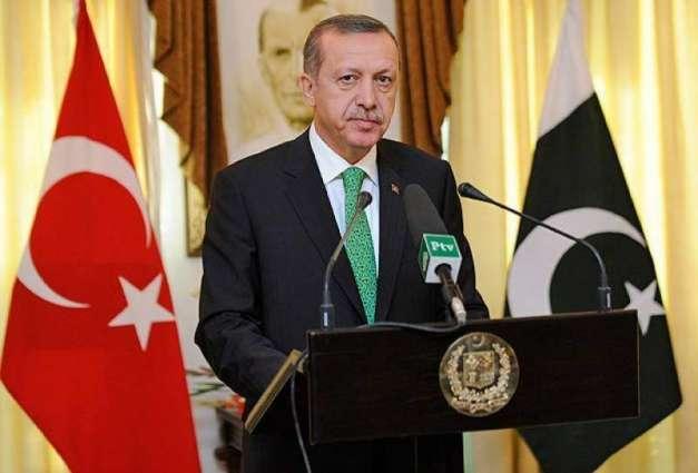 """الرئیس الترکي رجب طیب أردوغان یصف """"صفقة القرن """" بصفقة الاحتلال"""