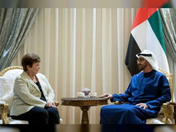 Mohamed bin Zayed receives IMF Managing Director