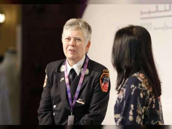 """منتدى المرأة العالمي دبي 2020 يقدم ضمن جلسات """"صناع التأثير"""" تجربة أول سيدة في الإطفاء بنيويورك"""