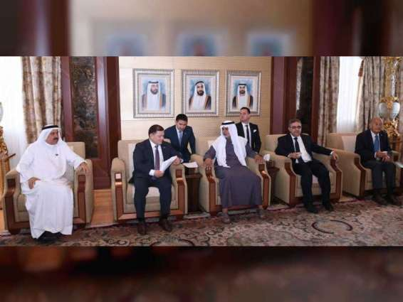 Nahyan bin Mubarak receives Speaker of Kyrgyz Parliament, Governor of Argentine province of Catamarca