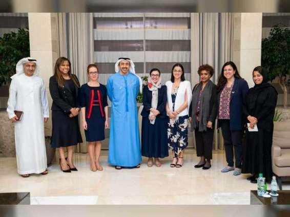 Abdullah bin Zayed receives female permanent delegates to UN