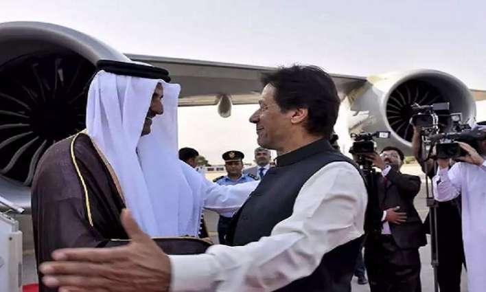 رئیس وزراء باکستان عمران خان یصل دولة قطر في زیارة لہ الرسمیة