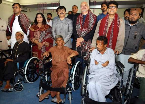 PPAF and MRDO donates 100 wheel chairs to differently abled individuals