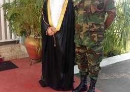 السفير الروقي يلتقي رئيس هيئة الأركان في غانا