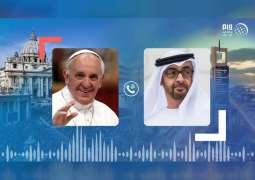 Mohamed bin Zayed, Pope Francis discuss developments in spread of coronavirus