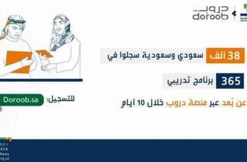 38 ألف سعودي وسعودية سجلوا في 365 برنامجاً تدريبياً عن بُعد عبر منصة