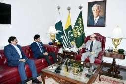 Chairman PRCS calls on President Masood Khan