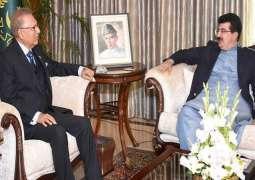 رئیس مجلس الشیوخ یجتمع مع رئیس البلاد الدکتور عارف علوي