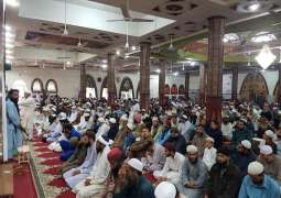Mosques witness rush of people during Friday prayer across Pakistan