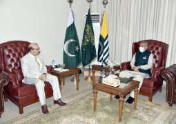 President Alvi's categorical stand sent a positive message to IOJK: Masood Khan