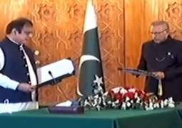 Shibli Faraz takes oath as Minister for Information and Broadcasting