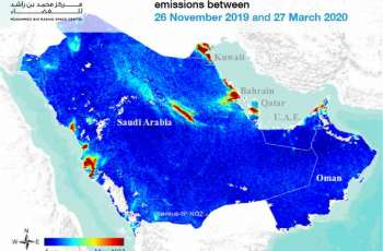 MBRSC releases image showing decline of NO2 in GCC