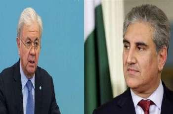 وزیر الخارجیة الباکستاني شاہ محمود قریشي یجري اتصالا ھاتفیا مع الأمین العام لمنظمة شنغھاي للتعاون