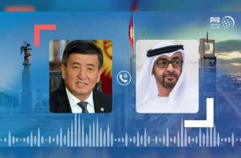 Mohamed bin Zayed, President of Kyrgyzstan review global fight against coronavirus