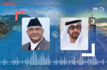 محمد بن زايد يتلقى اتصالًا هاتفيًا من رئيس وزراء النيبال