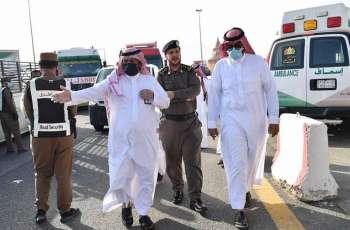محافظ الدرب يتفقد سير عمل قوات أمن الطرق بمركز الشقيق