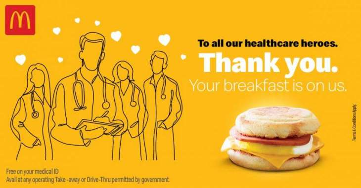 McDonald's Pakistan values the efforts of Modern Day Heros at this difficult time