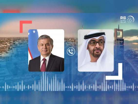 Mohamed bin Zayed, Uzbek President discuss bilateral relations, ways to contain COVID-19 outbreak